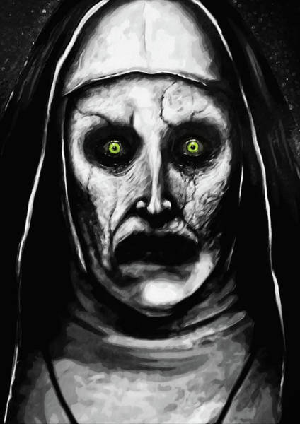 Wall Art - Digital Art - Valak The Demon Nun by Zapista Zapista