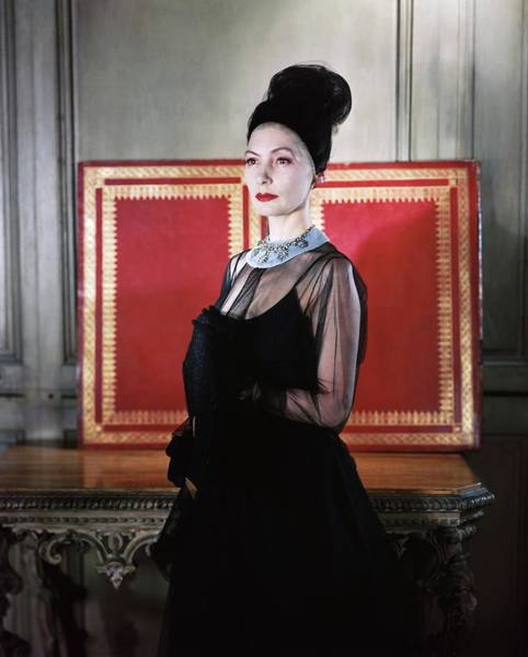 Photograph - Valentina In A Black Dress by Horst P. Horst