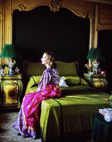 Eastern European Photograph - Valentina In Her Bedroom by Horst P. Horst
