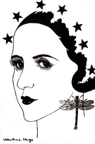 Surrealist Drawing - Valentine Hugo Lise Deharme by Marilyn Hunt