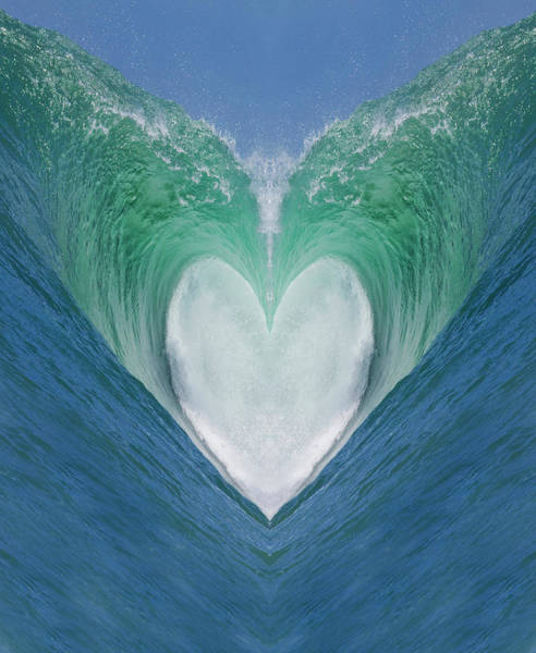 Wall Art - Photograph - Valentine Wave 3 by Sean Davey