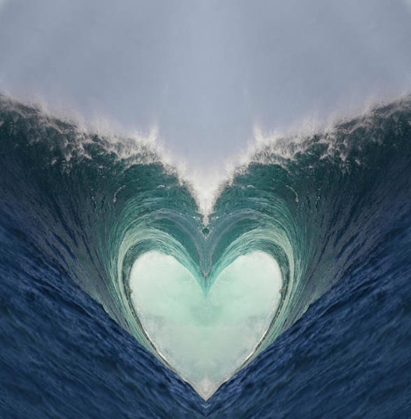 Wall Art - Photograph - Valentine Wave by Sean Davey