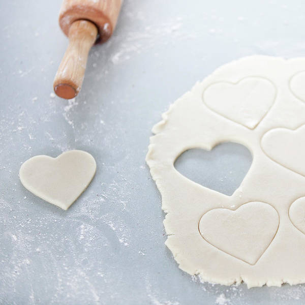 Domestic Life Photograph - Valentines Cookie, Uncooked by Steven Errico