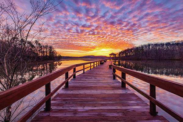 Wall Art - Photograph - Valentine's Day Sunrise At War Hill Park by Michelle Wittmer-Grabowski