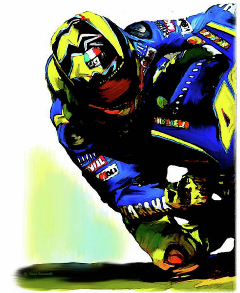 Wall Art - Painting - Valentino Rossi  Corner Speed IIi by Iconic Images Art Gallery David Pucciarelli