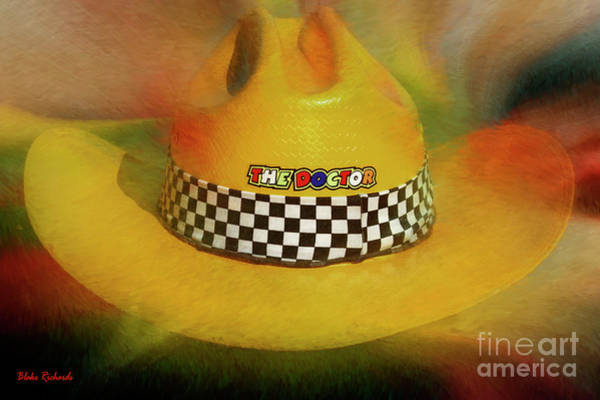 Photograph - Valentino Rossi Cowboy Hat by Blake Richards