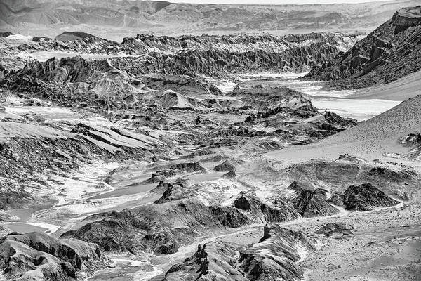 Photograph - Valle De La Luna In Monochrome by Mark Hunter