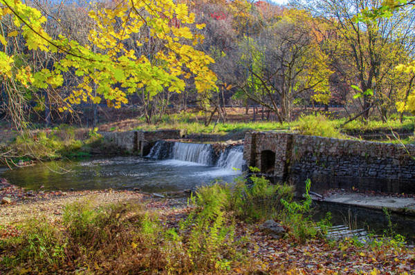 Wall Art - Photograph - Valley Forge Pennsylvania - Autumn Waterfall by Bill Cannon
