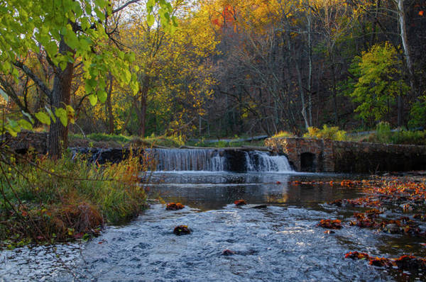 Photograph - Valley Forge Pennsylvania In Autumn - Waterfall by Bill Cannon