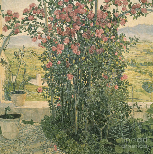 Wall Art - Painting - Valley In Umbria by Aleksandr Jakovlevic Golovin