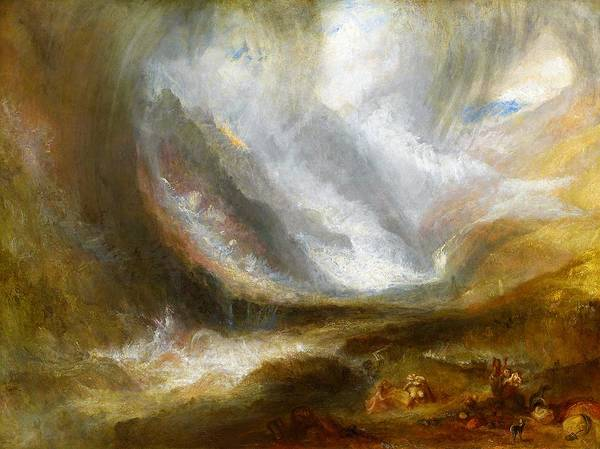 Wall Art - Painting - Valley Of Aosta, Snowstorm, Avalanche And Thunderstorm - Digital Remastered Edition by William Turner