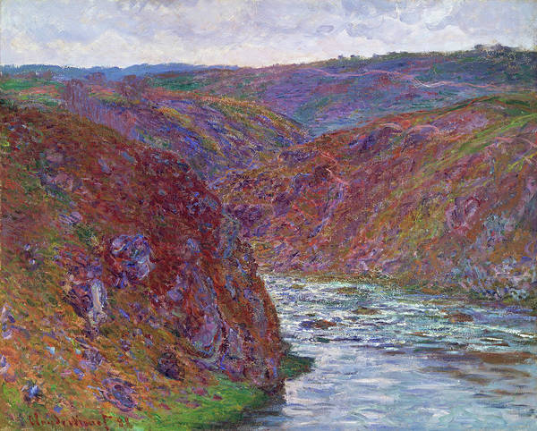 Riverbed Painting - Valley Of The Creuse, Gray Day - Digital Remastered Edition by Claude Monet