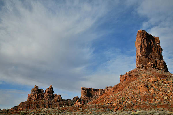 Photograph - Valley Of The Gods Cotton Candy Clouds by Ray Mathis