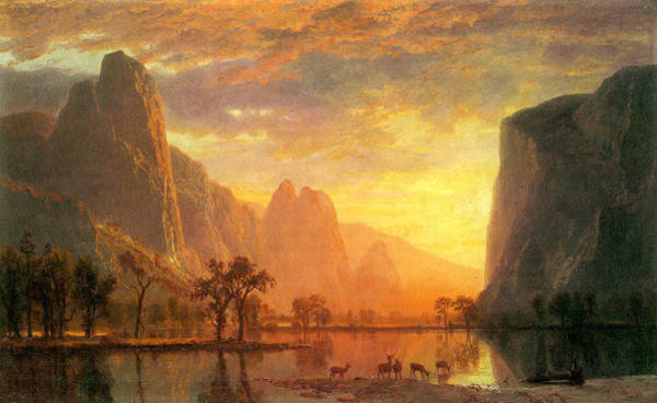 Painting - Valley Of The Yosemite  Albert Bierstadt by Denise Beverly