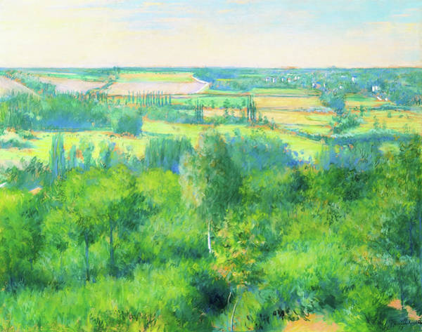 Wall Art - Painting - Valley Of Yerres - Digital Remastered Edition by Gustave Caillebotte