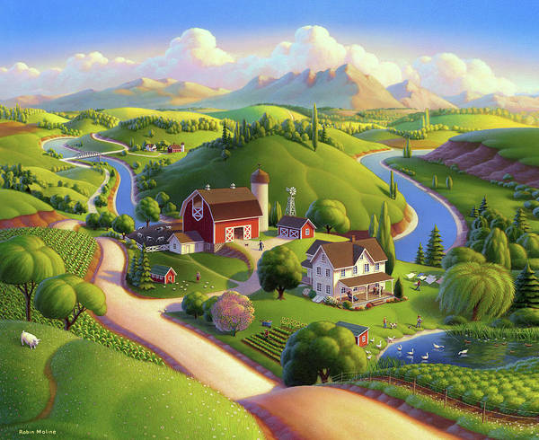 Painting - Valley Spring Farm  by Robin Moline