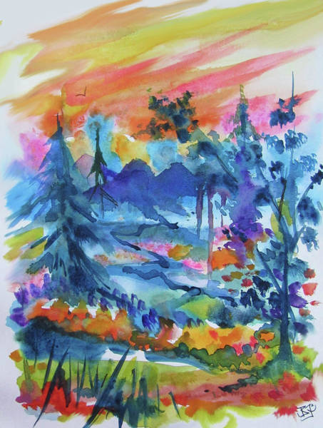Painting - Valley Sunrise by Jean Batzell Fitzgerald