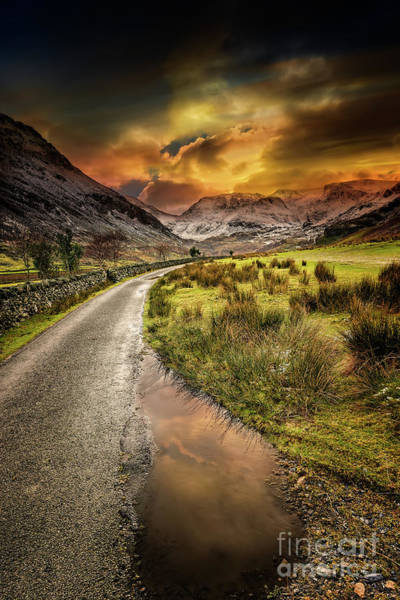 Photograph - Valley Sunset Snowdonia by Adrian Evans