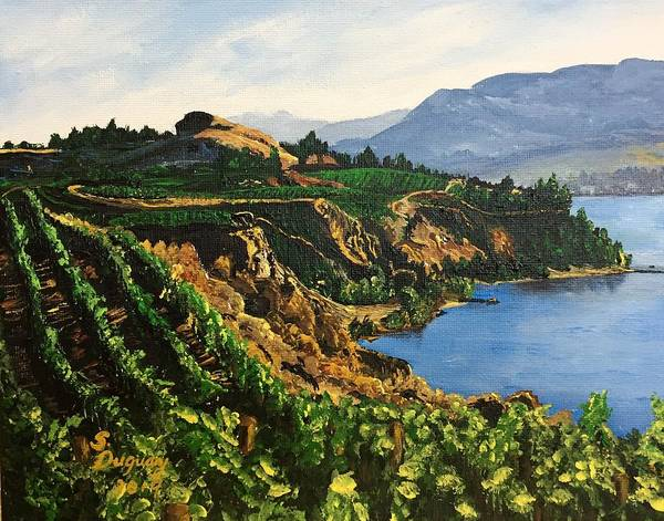 Okanagan Valley Painting - Valley Vineyard by Sharon Duguay