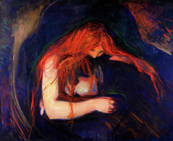 Inferno Painting - Vampire - Digital Remastered Edition by Edvard Munch
