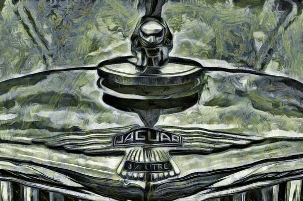 Wall Art - Photograph -  Van Gogh Jaguar Car Classic by David Pyatt