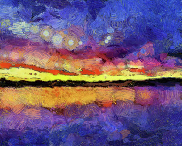 Wall Art - Painting - Van Gogh Sunset Reflection by Dan Sproul