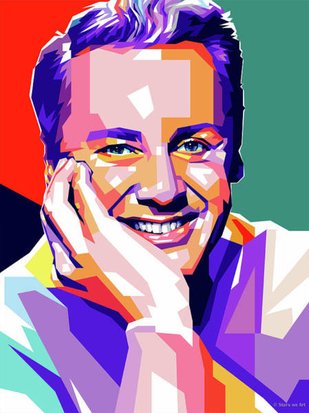 Wall Art - Digital Art - Van Johnson Pop Art by Stars-on- Art