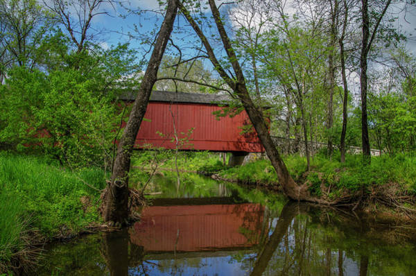 Wall Art - Photograph - Van Sandt Covered Bridge In Bucks County Pa by Bill Cannon