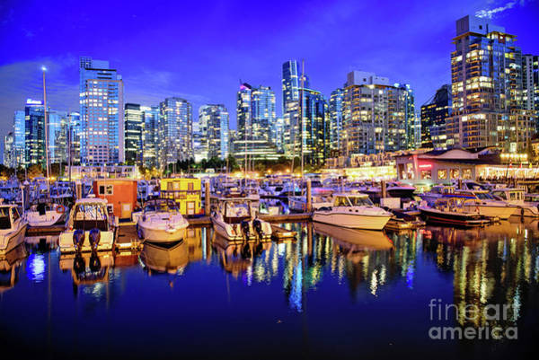 Wall Art - Photograph - Vancouver Marina At Night by Anna Serebryanik