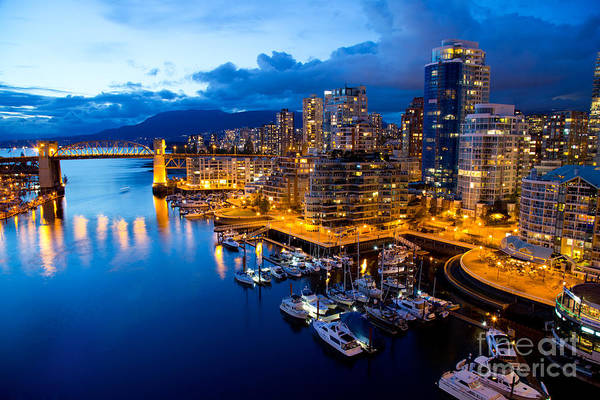 Night View Wall Art - Photograph - Vancouver Night View by Abesan