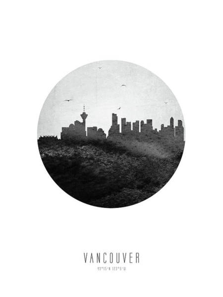 Wall Art - Digital Art - Vancouver Skyline Cabcva04 by Aged Pixel