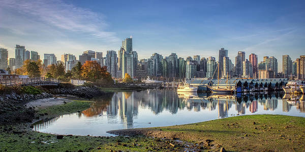 Photograph - Vancouver Skyline In Autumn by Andy Konieczny