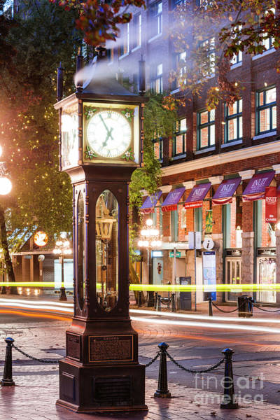 Wall Art - Photograph - Vancouver Steam Clock by Matteo Colombo