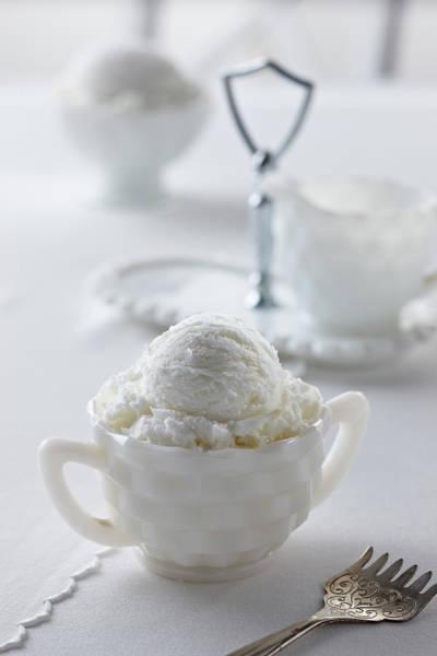 Ice Cream Photograph - Vanilla Ice Cream by Lew Robertson