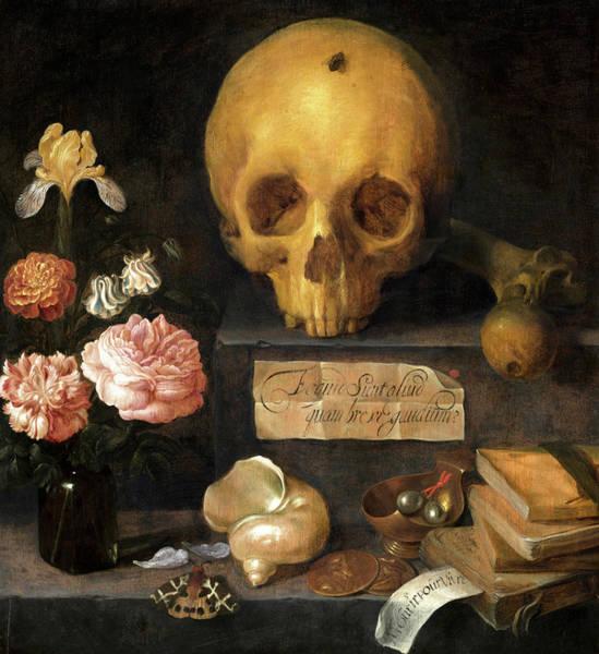 Wall Art - Painting - Vanitas Still Life, 1636 by Adriaen van Nieulandt
