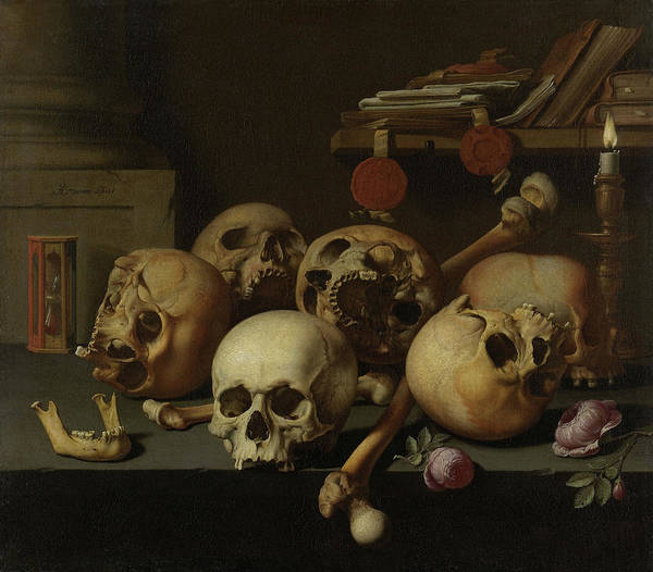 Wall Art - Painting - Vanitas Still Life, 17th Century by Aelbert Jansz van der Schoor