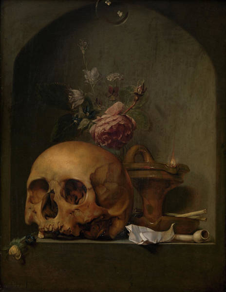 Wall Art - Painting - Vanitas Still Life, 17th Century by Hendrik Andriessen