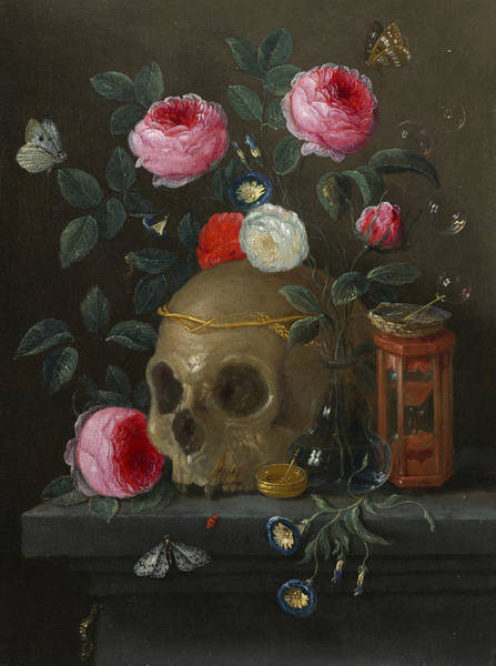 Painting - Vanitas Still Life by Jan van Kessel the Elder