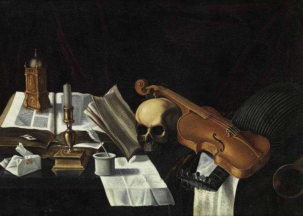 Wall Art - Painting - Vanitas With Violin by Edwaert Collier