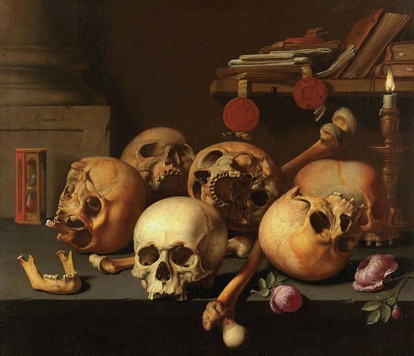 Wall Art - Painting - Vanits Still Life, 1672 by Aelbert Jansz van der Schoor
