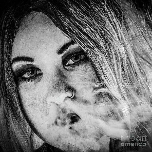 Photograph - Vaping Girl by Nigel Dudson