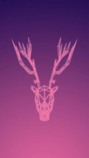Wall Art - Digital Art - Vaporwave Deer by Tarik Radoncic