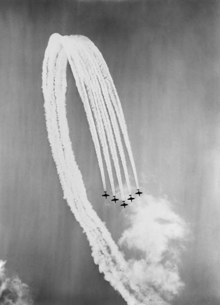 Coordination Wall Art - Photograph - Vapour Trails by George W Hales