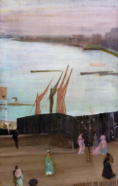 Wall Art - Painting - Variations In Pink And Grey, Chelsea - Digital Remastered Edition by James McNeill Whistler