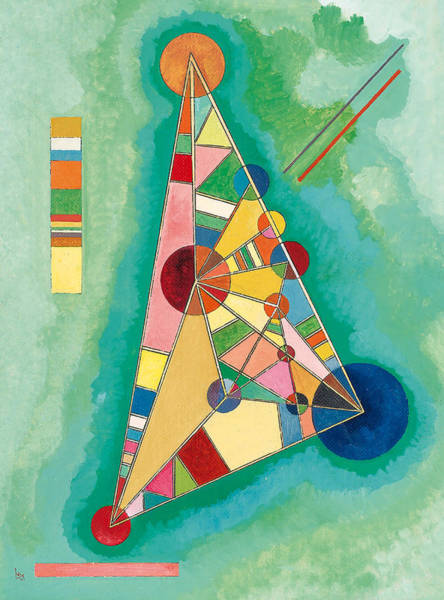 Wall Art - Painting - Variegation In The Triangle - Bunt Im Dreieck by Wassily Kandinsky