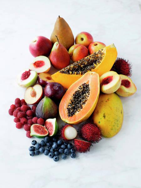 Mangos Photograph - Variety Of Fresh Fruits by Brett Stevens