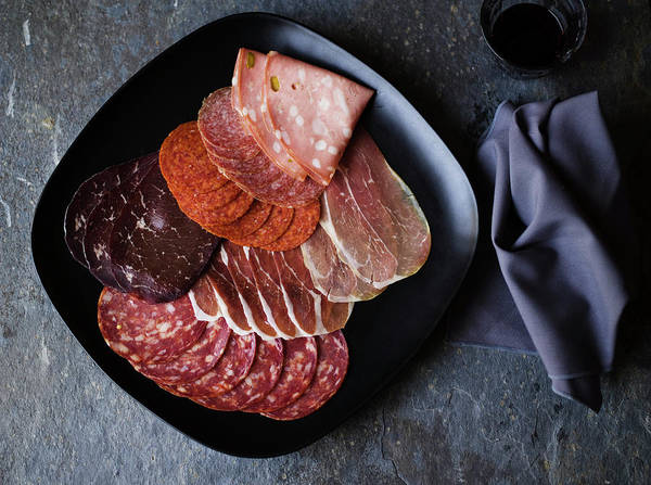 Delicatessen Photograph - Variety Of Italian Meats by Jupiterimages