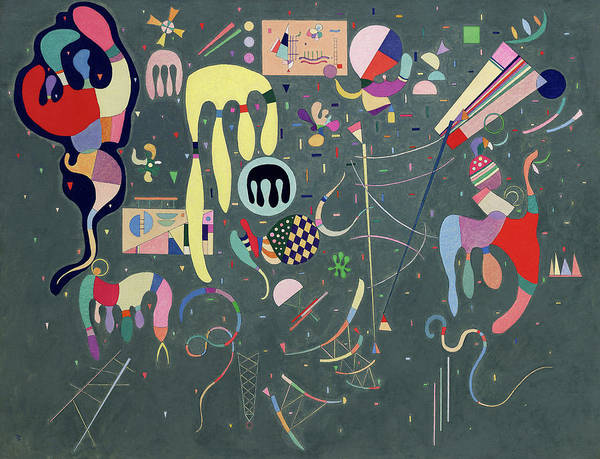 Visual Illusion Wall Art - Painting - Various Actions, 1941 by Wassily Kandinsky