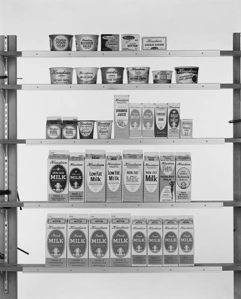 Wall Art - Photograph - Various Carton Food On Shelf by Tom Kelley Archive