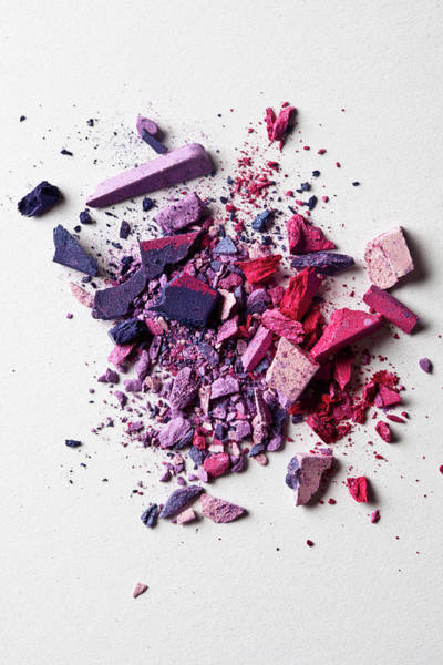 Make Up Photograph - Various Crushed Make-up Powder In A Heap by Larry Washburn